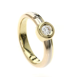 Cartier Ring 18K Yellow, White and Rose Gold with Diamond Size 4