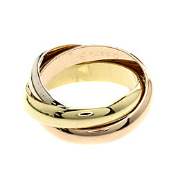 Cartier Trinity Ring 18K Yellow, White and Rose Gold Size 5.75