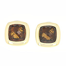 David Yurman Albion 18K Yellow Gold, Sterling Silver Smoky Quartz Earrings