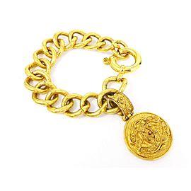 Chanel Gold Tone CC Logo Chain Bracelet