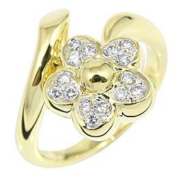 Ponte Vecchio 18K Yellow Gold Diamond Ring Size 5