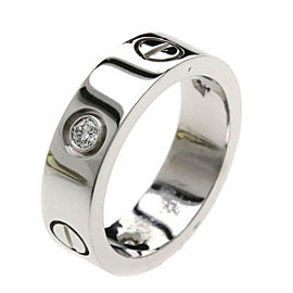 Cartier Love Ring 18K White Gold and Diamond Size 5.75