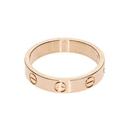 Cartier Mini Love Ring 18K Rose Gold Size 5.25
