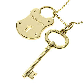 Tiffany & Co. Lock Key 18K Yellow Gold Necklace