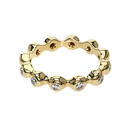 Chanel 18K Yellow Gold Diamond Ring Size 6.25