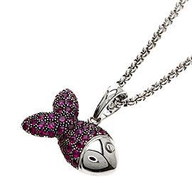 Chopard 18K White Gold Ruby Necklace