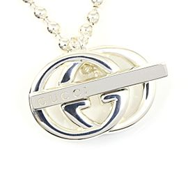 Gucci Sterling Silver GG Pendant Necklace