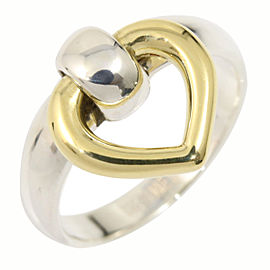 Hermes 18K Yellow Gold Sterling Silver Ring Size 5.25