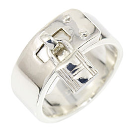 Hermes Sterling Silver Ring Size 4.75