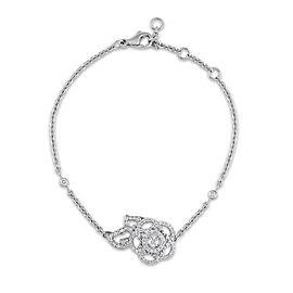 Chanel 18K White Gold Diamond Camelia Bracelet