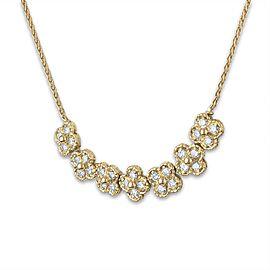 Van Cleef & Arpels 18K Yellow Gold Diamond Rope Link Necklace