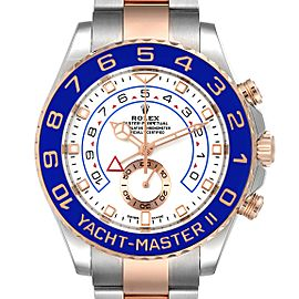 Rolex Yachtmaster II Rolesor EveRose Gold Steel Mens Watch 116681 Unworn
