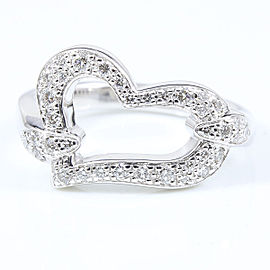 Piaget 18K White Gold Diamond Ring Size 5