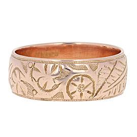 9K Rose Gold Wedding Ring Size 9.5