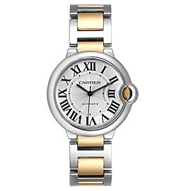 Cartier Ballon Bleu Midzize 36 Steel Yellow Gold Ladies Watch