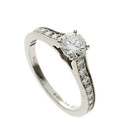 Cartier Platinum Diamond Ring Size 4.5