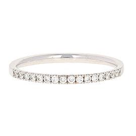 Blue Nile 14K White Gold Diamond Wedding Ring Size 7