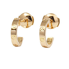 Cartier 18K Rose Gold Love Pierced Earrings