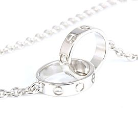 Cartier 18K White Gold Mini Love Pendant Necklace