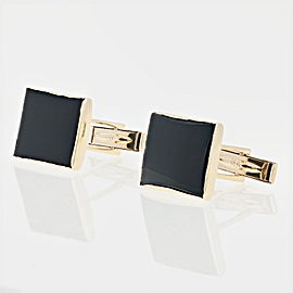 14K Yellow Gold Onyx Cufflinks