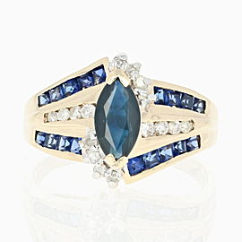 Sapphire, Synthetic Sapphire, Diamond Ring Size 9.5