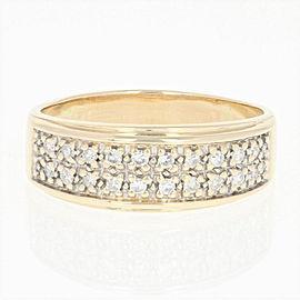 14K Yellow Gold Diamond Ring Size 8.75