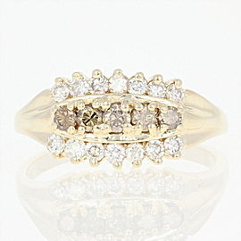 14K Yellow Gold Diamond Ring Size 8