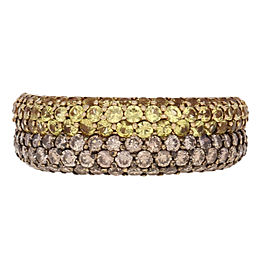 Effy 14K Yellow Gold Sapphire, Diamond Ring Size 7.25