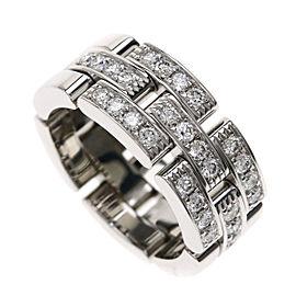Cartier 18K WG Mayol PANTHERE / Half Diamond Ring