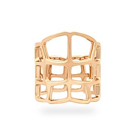 Hermes 18K Yellow Gold Open Web Ring Size 5.75