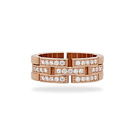 Cartier Maillon Panthere Ring 18K Rose Gold Diamond Size 9