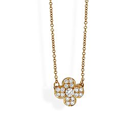 Van Cleef & Arpels 18K Yellow Gold Diamond Trefle Necklace
