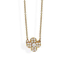 Van Cleef & Arpels 18K Yellow Gold Diamond Trefle Necklace