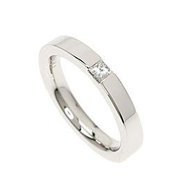 Harry Winston 950 Platinum Diamond Ring Size 4