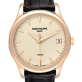 Patek Philippe Calatrava Hunter Case Rose Gold Mens Watch 5227 Box Papers