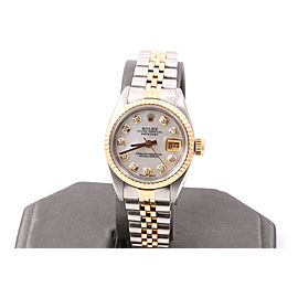 Rolex Ladies 2tone Datejust - Mother Of Pearl Diamond Dial - Jubilee Band