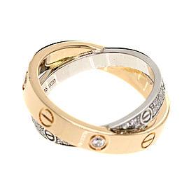 Cartier 18K RG Diamond Love Ring