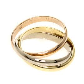 Cartier 18K Trinity Ring Size 4.5