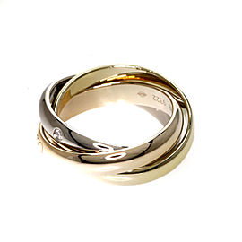 Cartier 18K Trinity Diamond Ring Size 3.75