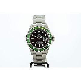 Rolex Anniversary Green Submariner 16610LV 40mm Mens Watch