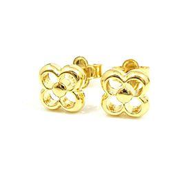 Louis Vuitton Gold-tone Monogram Pierced Earrings