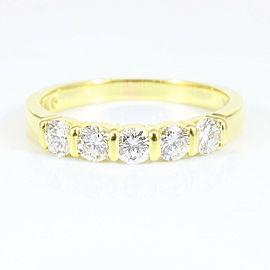 Tiffany & Co. 18K YG Diamond Ring Size 5.5