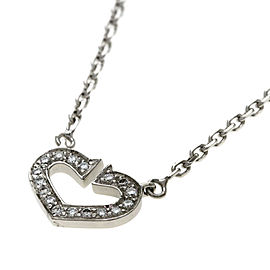 Cartier 18K WG Heart Diamond Necklace