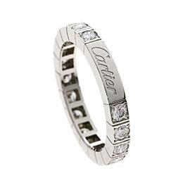 Cartier 18K WG Lanieres Diamond Ring Size 5.75