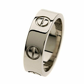 CARTIER Ring love ring # 48 18K White Gold