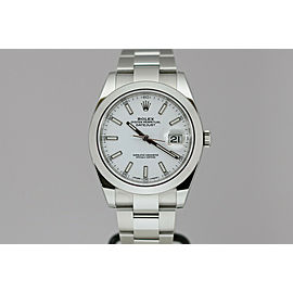 Rolex Datejust 41 White Dial Automatic 41mm Watch 126300 with Card