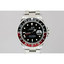 "Rolex GMT Master II Red Black Bezel ""Swiss Only"" Dial Watch 16710 A Series"