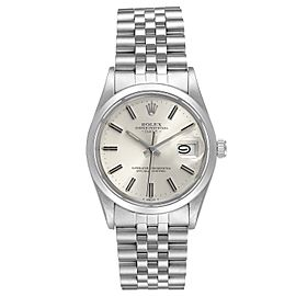 Rolex Date Stainless Steel Silver Dial Vintage Mens Watch 15000
