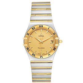 Omega Constellation Steel 18K Yellow Gold Mens Watch 1212.10.00