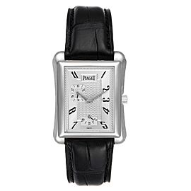 Piaget Black Tie Emperador Coussin 18K White Gold Mens Watch 18900